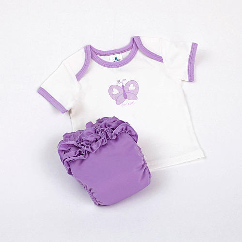 CoCalo Perfect Bum Newborn Starter Kit - Lavender Butterfly (Small)