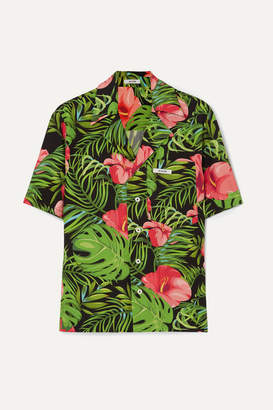 Blouse BLOUSE - Figaro Printed Poplin Shirt - Green