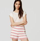 "LOFT Striped Sailor Riviera Shorts with 4"" Inseam"