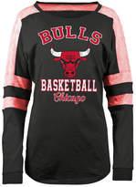 5th & Ocean Women's Chicago Bulls Space Dye Long Sleeve T-Shirt