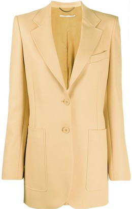 Stella McCartney Single-Breasted Long-Line Blazer