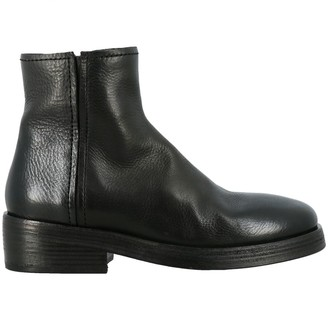 Marsèll Tozzo Zip Ankle Boots In Leather With Macro Zip