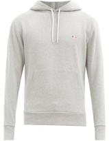 MAISON KITSUNÉ Tricolour Fox-applique Cotton Hooded Sweatshirt - Mens - Grey