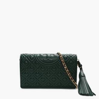 Tory Burch Fleming Norwood Leather Quilted Cross-Body Wallet
