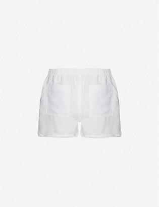Bella Dahl Frayed mid-rise woven shorts