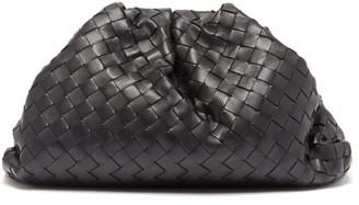 Bottega Veneta The Pouch Intrecciato Leather Clutch Bag - Black