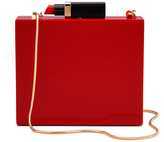 Lulu Guinness Women's Chloe Perspex Clutch Bag with Lipstick Red