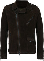 Giorgio Brato off-centre zip jacket - men - Lamb Skin/Polyester - 46