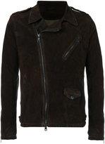 Giorgio Brato off-centre zip jacket