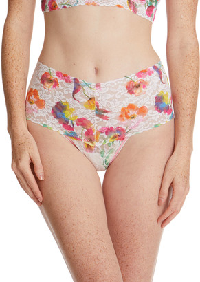 Hanky Panky Floral Reflections Retro Lace Thong