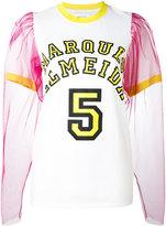 Marques Almeida Marques'almeida tulle sleeve T-shirt