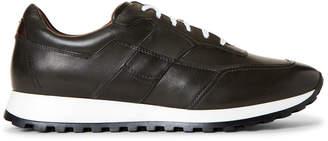 Bacco Bucci Studio Grey Santos Leather Low-Top Sneakers