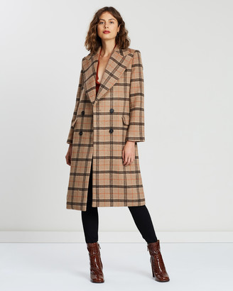 Atmos & Here Chelsea Wool Checked Coat