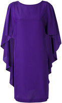 Alberta Ferretti ruffled sleeves shift dress - women - Silk - 40