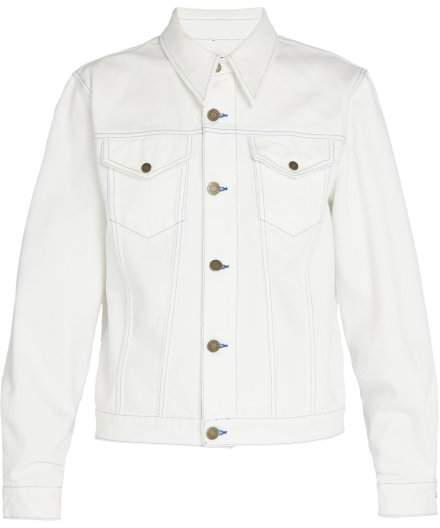 Calvin Klein Sandra Brant Patch Denim Jacket - Mens - White