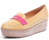Dorothy Perkins Tan wedge loafer