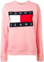 Tommy Jeans logo patch sweatshirt - women - Cotton/Polyester - XS