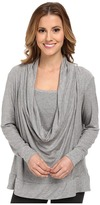 Midnight by Carole Hochman Lounge Capsule Cowl Neck Top