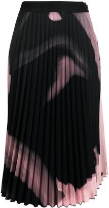 Off-White Liquid Melt pleated skirt
