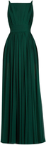 Elie Saab Square-neck sleeveless silk-georgette gown