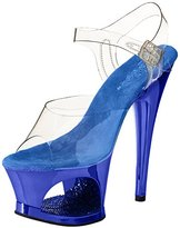 Pleaser USA Women's Moon-708DMCH/RYBL Platform Sandal
