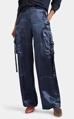 Sies Marjan Women's Sammie Washed Satin Cargo Pants - Blue