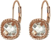 The Sak Cushion Stone Leverback Earrings