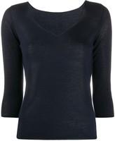 Roberto Collina fine-knit v-neck jumper