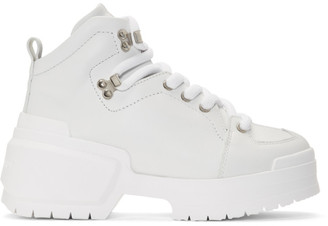 Pierre Hardy White Trap Lace-Up Boots