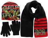 Nickelodeon Boy's Ninja Turtles Fight Hat/Gloves/Scarf
