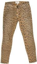 Current/Elliott Lepoard Print Skinny Jeans
