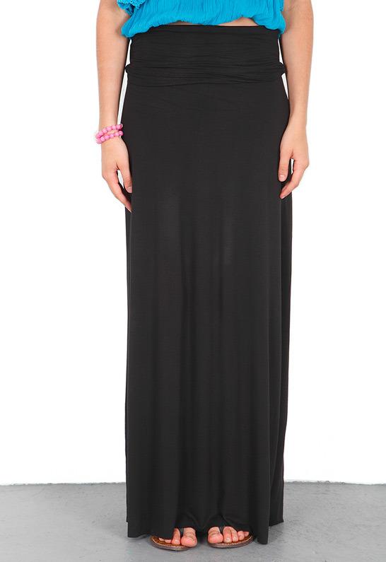 Singer22 Bella Luxx Maxi Skirt in Black