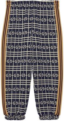 Gucci Children's GG check cotton jersey bottoms