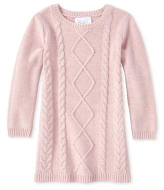 Children's Place The Cable Knit Sweater Dress (Baby Girls & Toddler Girls)