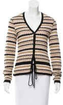 M Missoni Drawstring V-Neck Cardigan