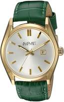 August Steiner AS8221GN Women's Quartz Metal and Leather Automatic Watch, Green