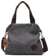 KISS GOLD(TM) Women's Casual Canvas Hobo Tote Bag Crossbody Shoulder Handbag