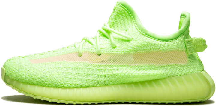 Adidas Yeezy Boost 350 V2 GID Kids 'Glow in the Dark' Shoes - Size 2Y