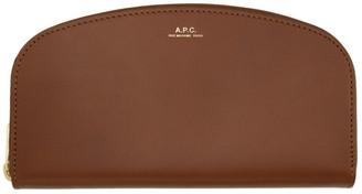 A.P.C. Brown Demi-Lune Wallet