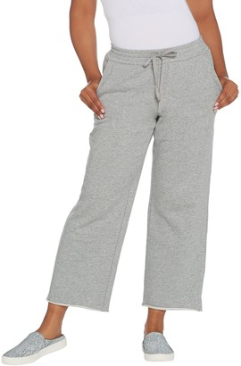 Logo by Lori Goldstein LOGO Lounge by Lori Goldstein Classic French Terry Pull-On Pant