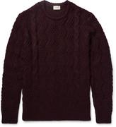 Club Monaco Mélange Cable-Knit Sweater