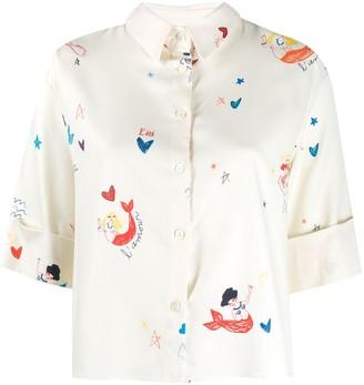 Chinti & Parker Mermaid Print Blouse