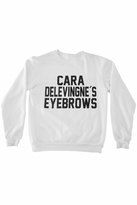 Private Party Cara Delevingne's Eyebrows Sweatshirt in White