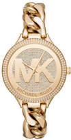 Michael Kors Slim Runway Twist Goldtone Bracelet Watch
