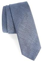 BOSS Men's Check Silk Skinny Tie