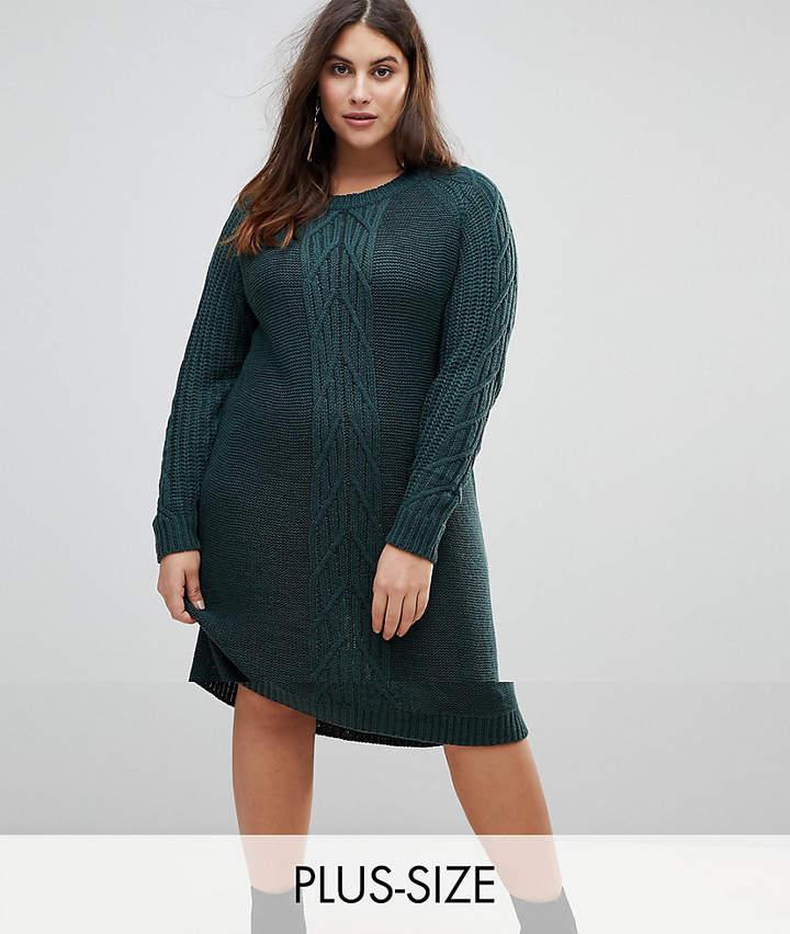 Junarose Cable Knit Jumper Dress
