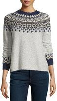 Joie Dedra Wool-Blend Pullover Sweater, Light Heather Gray