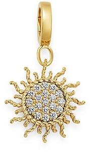 Roberto Coin 18K Yellow Gold Diamond Sun Charm