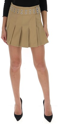 Junya Watanabe Eyelet Belt Pleated Skirt