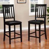Linon Cayman Counter Chair 2-piece Set